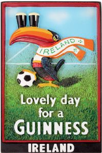 Guinness Toucan Ireland Scarf 3D resin fridge magnet    (sg 5014)